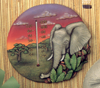 Round Elephant Thermometer