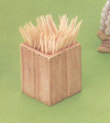 Crate Toothpick Holder